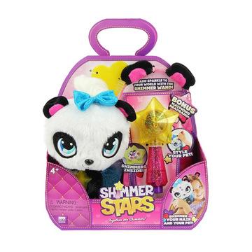 Shimmer Stars: Pixie panda plüssfigura varázspálcával