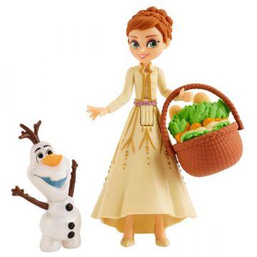 Disney hercegnők: Jégvarázs 2 mini Olaf és Anna baba - 10 cm - . kép