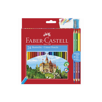 Faber-Castell: Creioane colorate cu două capete, 24+3 buc.