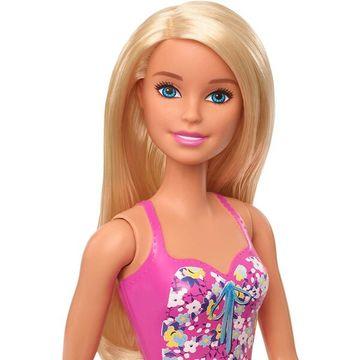 Barbie: Szőke hajú Barbie kék-rózsaszín fürdőruhában - . kép