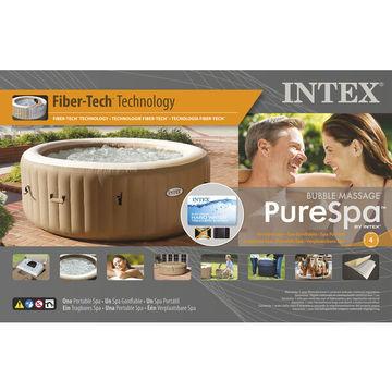 Intex: Pure Spa Sahara Tan 4 személyes jacuzzi szett - 196 x 71 cm - . kép