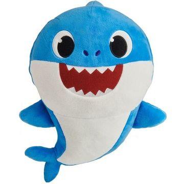 Baby Shark: figurină de pluș care cântă - rechin tată