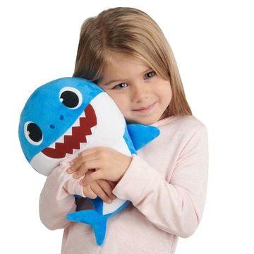 Baby Shark: figurină de pluș care cântă - rechin tată - .foto