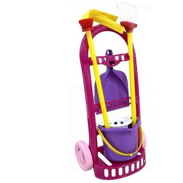 Játék takarítókocsi - lila