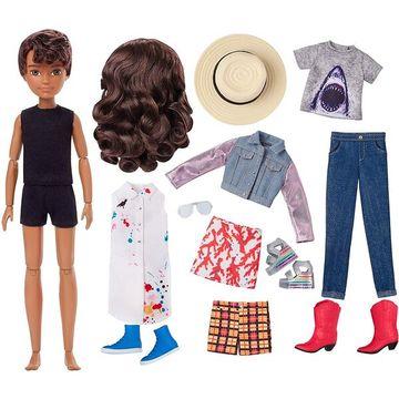 Creatable World: Barna bőrű öltöztethető baba 12 kiegészítővel - . kép