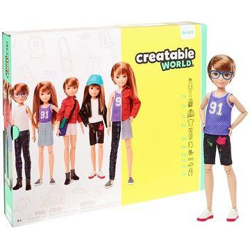 Creatable World: Vörös hajú öltöztethető baba 12 kiegészítővel