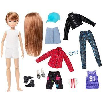 Creatable World: Vörös hajú öltöztethető baba 12 kiegészítővel - . kép