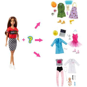 Barbie: Meglepetés karrier baba - barna - . kép