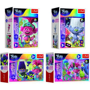DreamWorks Trolls mini maxi puzzle cu 20 piese - diferite