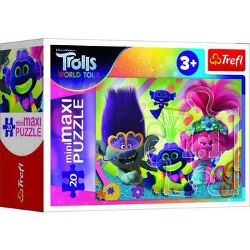 DreamWorks Trolls mini maxi puzzle cu 20 piese - diferite - .foto