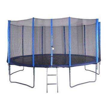 Spartan Mega trambulin védőhálóval és létrával 460 cm-es, 2 dobozban