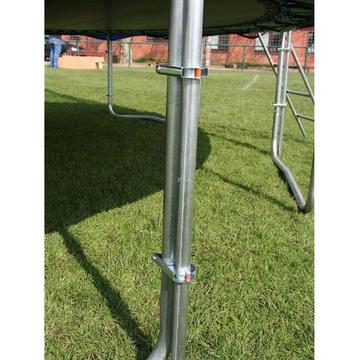 Spartan Mega trambulin védőhálóval és létrával 460 cm-es, 2 dobozban - . kép