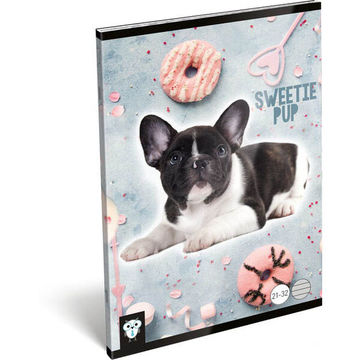 KIS BAGOLY: Sweetie Pup A5 vonalas füzet