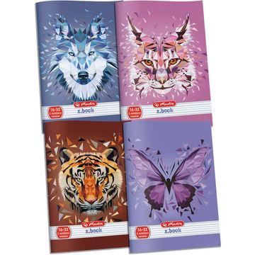 x.book: Wild Animals 2. osztályos vonalas füzet 16-32 - A5, többféle