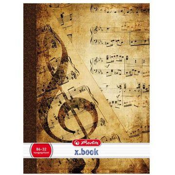 x.book: Design hangjegyfüzet 86-32 - A4