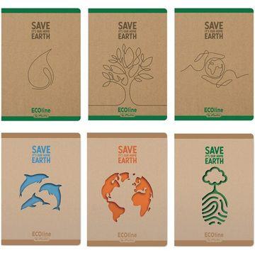 Ecoline vonalas füzet 100%-ban újrafelhasznált papírból - A4, többféle