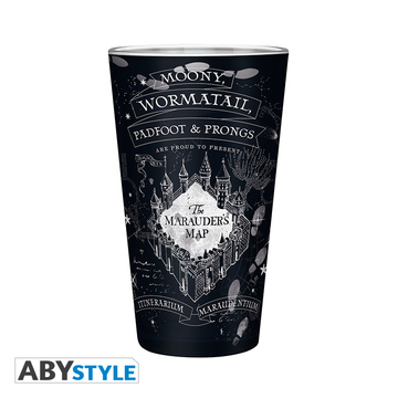 Harry Potter: Tekergők térképe XXL üvegpohár - 400 ml