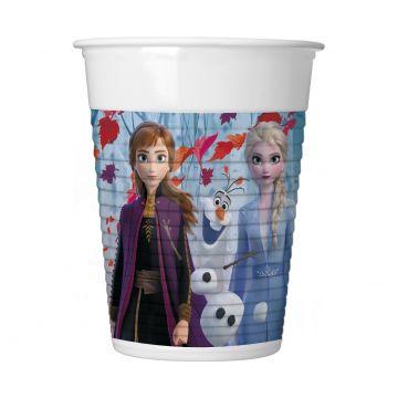 Disney hercegnők: Jégvarázs 2 műanyag pohár, 2 dl - 8 db