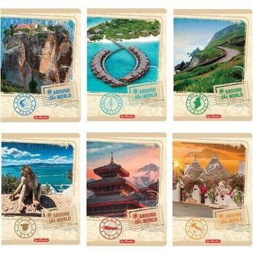 Around the world: vonalas füzet A4 - többféle