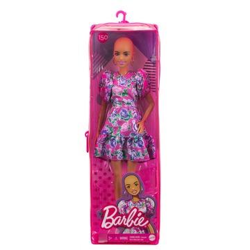 Barbie Fashionistas: Kopasz Barbie virágos ruhában - . kép