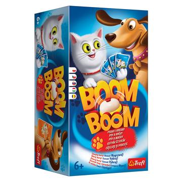 Trefl: Boom Boom - Kutyák és cicák ügyességi és logikai társasjáték