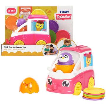 Tomy Toomies: Mașinuța veselă de înghețată - roz