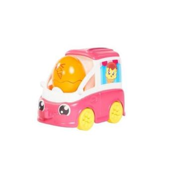 Tomy Toomies: Mașinuța veselă de înghețată - roz - .foto