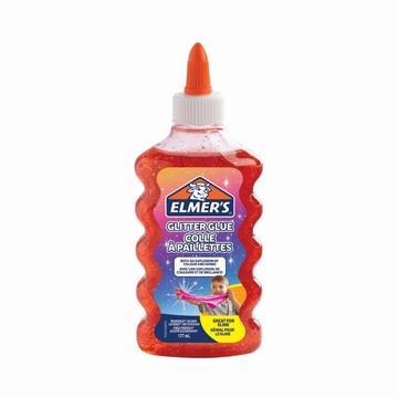 Elmer's: glitteres ragasztó, 177 ml - piros