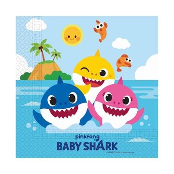 Baby Shark: 20 darabos szalvéta - 30 x 30 cm