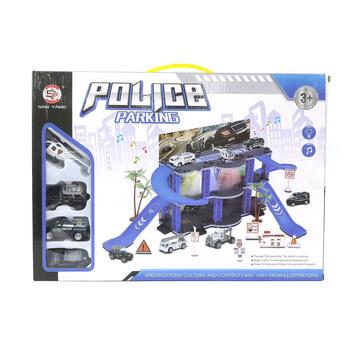 Rendőrségi állomás fénnyel és hanggal