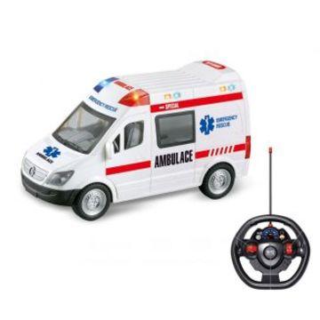 Távirányítós mentőautó fénnyel és hanggal
