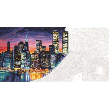 Schipper: Festés számok szerint - Manhattan at Night, 40 x 80 cm fekvő - . kép