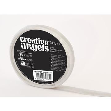 Creative Angel díszkötöző szatén szalag - ezüst