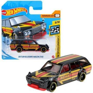 Hot Wheels: Datsun Bluebird Wagon (510) kisautó - fekete
