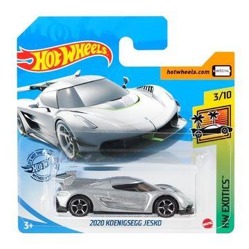 Hot Wheels: Mașinuță 2020 Koenigsegg Jesko - gri argintiu