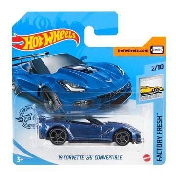 Hot Wheels: Mașinuță 19 Corvette ZR1 Convertible - albastru închis