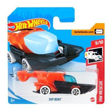 Hot Wheels: Sky Boat kisautó - fekete-narancssárga