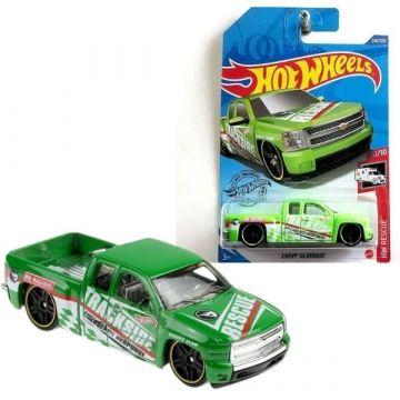 Hot Wheels: Chevy Silverado kisautó - világos zöld