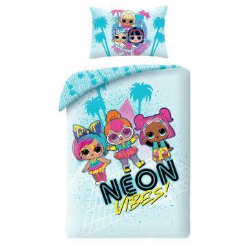 L.O.L. Surprise: Neon Vibes - ovis kétrészes ágyneműhuzat garnitúra 100x135cm+40x60cm