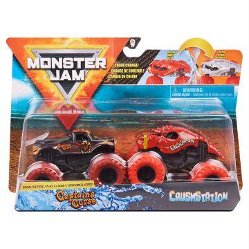 Monster Jam: Captains Curse és Crush Station 2 darabos kisautó szett