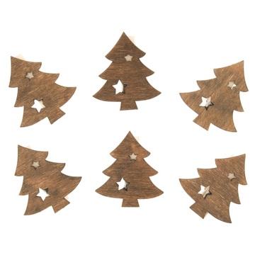 Karácsonyfa csipeszen 6 db - 4 cm