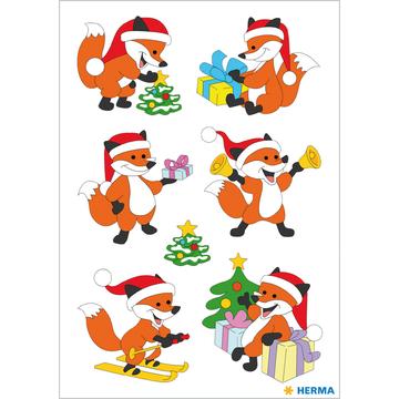 Herma: Rókás karácsonyi matrica - . kép