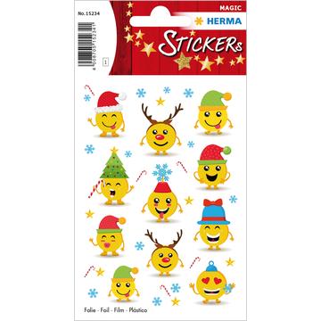Herma: Smiley karácsonyi matrica