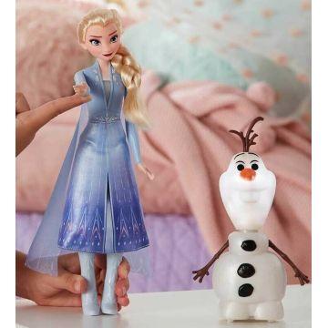 Disney Hercegnők: Jégvarázs 2 - Beszélő és világító Olaf és Elza - . kép