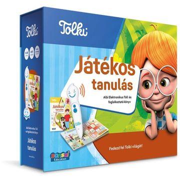 Tolki: Játékos tanulás interaktív foglalkoztató könyv - készletben