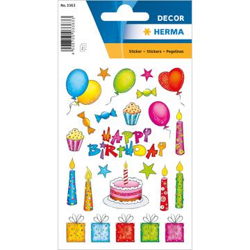 Herma: születésnapi csillogó matrica