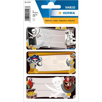 Herma: Etichete caiete cu model pirați
