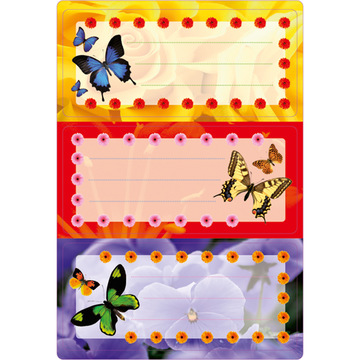 Herma: Etichete caiete cu model fluturi