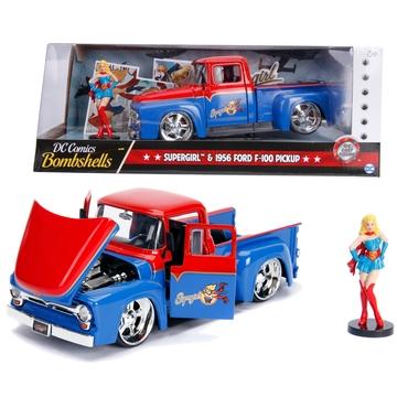 DC Comics: Bombshells Supergirl és 1956 Ford F-100 Pickup 1:24
