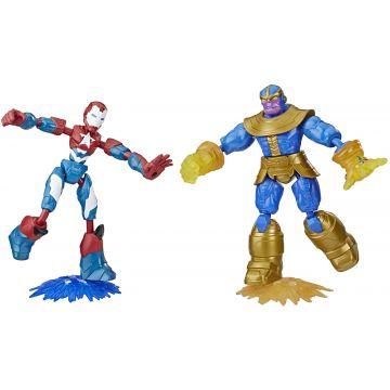 Marvel: Avengers - Bend and Flex Hadigép és Thanos figurák - . kép